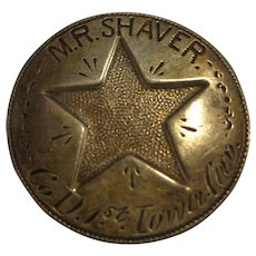 Rare Civil War Cavalry ID Badge / Tag 1st Iowa Cavalry Prisoner of War