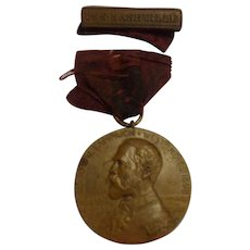 Antique Spanish American War Campaign Medal Named USS Nashville US Navy Tennessee