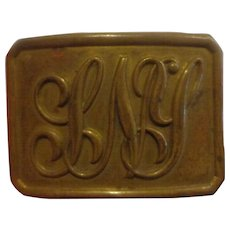 Nice Antique State of New York Indian Wars Belt Buckle Militia Military