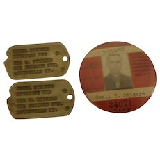 WWII Dog Tags & Picture Badge AAFTS Army Air Forces Corps Gulfport Field Mississippi