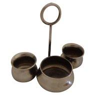 Rare Sterling Silver Herbst & Wassall Salts Trio Condiment Set Cauldron Shaped