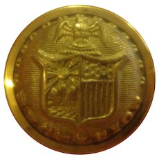Nice Antique State of New York Great Coat Militia Button Military