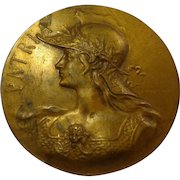 Rare French Art Deco 1930s Dog Show 3rd Place Bronze Medal from Paris France