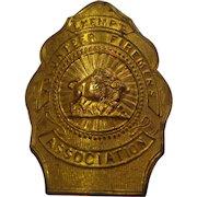 Antique Buffalo Fireman Exempt Badge New York NY
