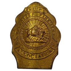 Antique Buffalo Fireman Exempt Badge New York NY