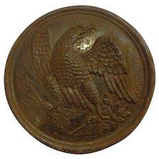 Antique Civil War Union Eagle Buckle Cartridge Box Leather Sling Plate