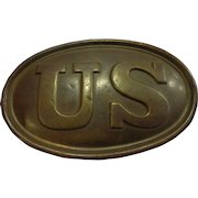 Antique Early Civil War Belt Buckle Plate US Army