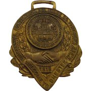 Antique Pennsylvania Fireman's Watch Fob Medal 1916 Convention