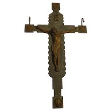 Rare 30-inch Antique Solid Bronze Four Evangelists Crucifix Catholic Christian