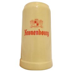 Large Vintage West German Beer Stein Kronenbourg Souvenir