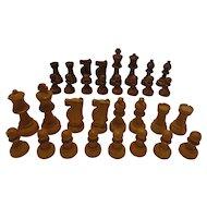 Vintage Chess Set Nice Size made of Wood Fine Quality Hardwood