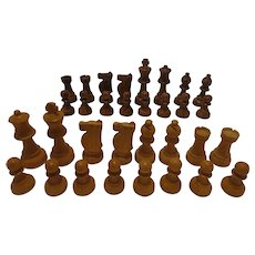 Vintage Chess Set Nice Size made of Wood Fine Quality Hardwood