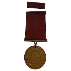 Nice Pre WII US Navy Good Conduct Medal Named 1937 USN Military Collectible