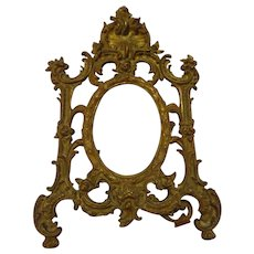 Antique Victorian Bronze Picture Frame Beautiful Quality