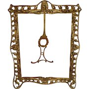 Antique Large Picture Frame Made in Spain Easel Back 8 X 10