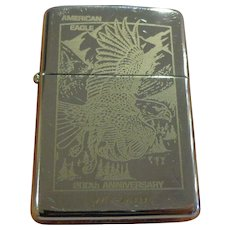 Nice Full Size Zippo 200th Anniversary Lighter American Eagle Commemorative