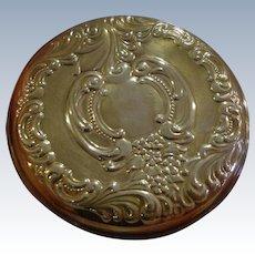 Wallace Sterling Silver Dresser Purse Mirror Grand Baroque Pattern in Original Box w/ Pouch