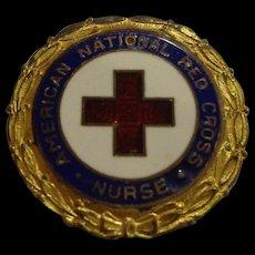 WWII Numbered Red Cross Enamel Pin Nurse