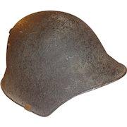 WWII Swiss Combat Helmet Named Switzerland Military