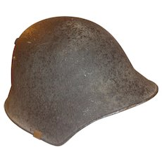 WWII Swiss Combat Helmet Named Switzerland Military