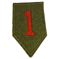 WWII 1st Infantry Uniform Removed Patch