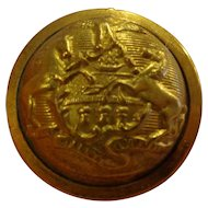 Beautiful Original Indian Wars Great Coat Button Pennsylvania Horstmann Bros Keystone State
