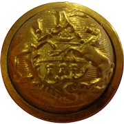 Beautiful Original Indian Wars Great Coat Button Pennsylvania Horstmann Bros Keystone State