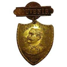 Rare Antique Badge Battle of Manila Admiral Dewey Spanish American War Pin