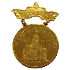 Buffalo New York Centennial Badge 1892-1932 George Washington Bicentennial 1732-1932
