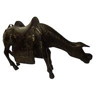 Antique Chinese Bronze Horse Censer 19th C.
