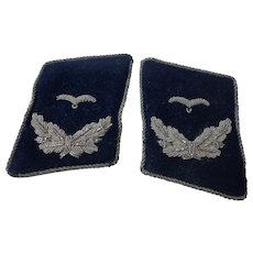 Pair of Authentic WWII German Medical Collar Tabs Luftwaffe