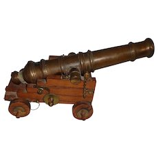 Magnificent Table Top Ship's Signal Cannon Mid Century Model Military Nautical Pirate