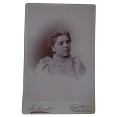 Rare Antique Cabinet Photo of Biracial American Young Lady from Massachusetts