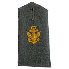 Original WWII Kriegsmarine Wool Great Coat Epaulet German Navy