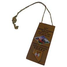 Rare Shriner Las Vegas Imperial Council Souvenir Ticket Nevada Necklace Medal Masonic