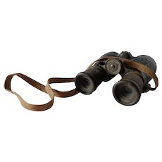 Captured WWI German Military Binoculars Spindler & Hoyer Feldglas 08 Gottingen Germany
