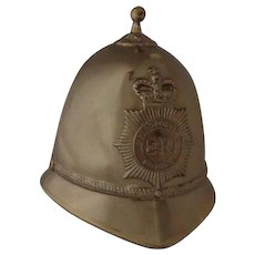 Vintage Souvenir Bobby Hat Bell from England Police Helmet Shaped