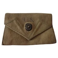 Nice WWII First Aid Pouch US Army Dubuque Awning & Tent 1945 Web Gear Military
