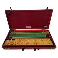 Vintage Mah Jongg Set with 152 Catalin Tiles Bakelite Jong