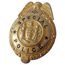 Old Special Police Badge with Tongue Catch