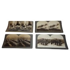 Nice WWI Grouping of Stereo View Cards INcluding Wounded Parade Howitzer and Tanks Keystone