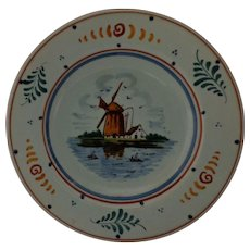 Vintage Royal Gouda Holland Handpainted Collectors Plate Windmill Dutch Kitchen Decor