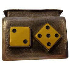 Rare Antique Silver Gambler's Dice Box Old West Americana American Wild West