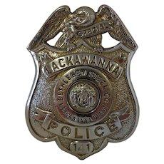 Old Bethlehem Steel Lackawanna Plant Security Police Badge Buffalo NY