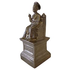 Vintage St. Peter Pietro Figurine on Throne from The Vatican Rome Italy