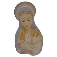 Large Size Madonna Devout Catholic Planter Vase Religious Our Lady Mary Mother of Mercy