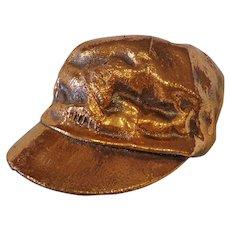 Rare Vintage Copper Covered Bronzed Child's Cap Little Boy's Hat 1960s