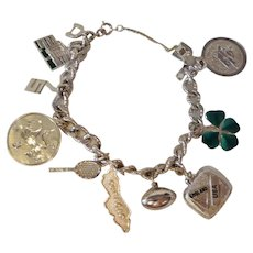 Nice Monet Charm Bracelet with Sterling Charms Shamrock Caracao Ontario Science Center Toronto Canada