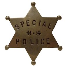 Antique Special Police Badge Railroad RR