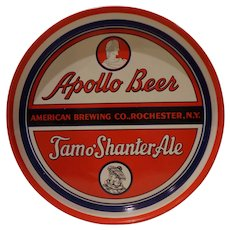 1940s Beer Apollo Beer Tray from American Brewing Company Rochester NY Scottish Tamo Shanter Ale